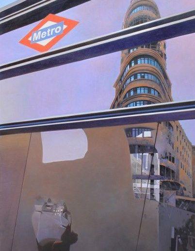 """""""Tras el cristal"""". José Higuera. 60x90 cm."""