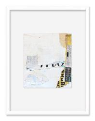 """""""Walls. Fragment 1"""". Roma. 30x40 cm. Técnica mixta sobre tela. Marco blanco"""