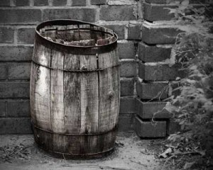 How to order whiskey: Used whiskey barrel