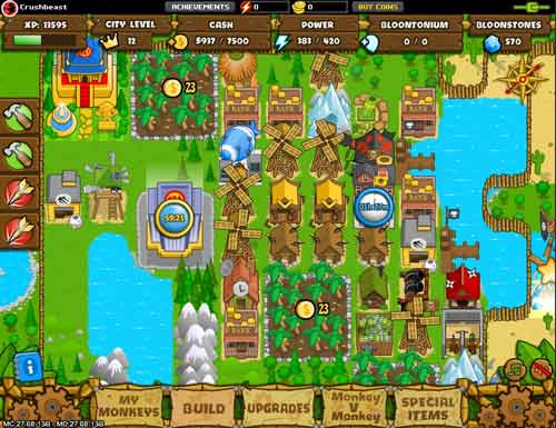 Free browser games: Monkey city