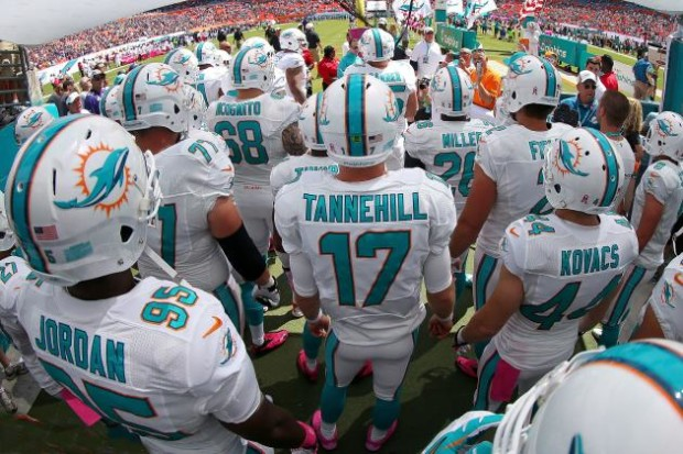 Miami Dolphins before game