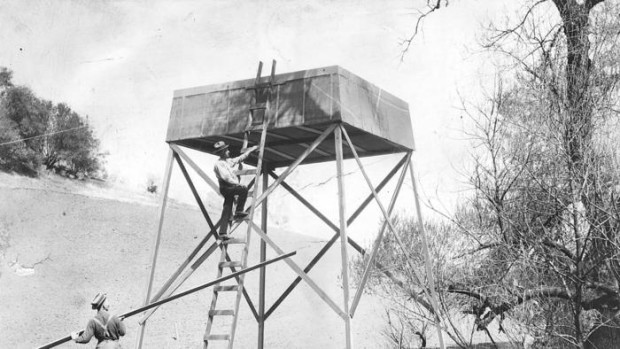 A Hatfield rain tower