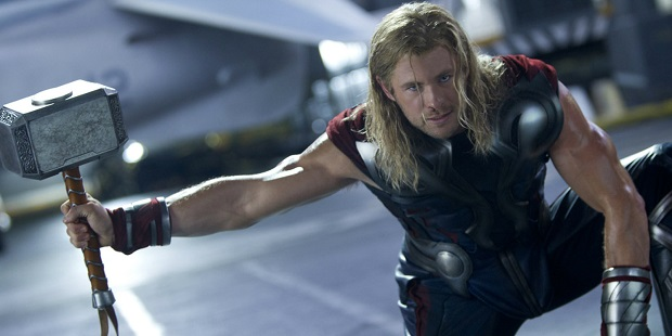 Thor with his hammer Mjolnir