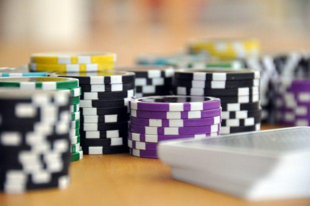 Crazy diet: stacks of poker chips