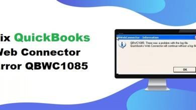 Photo of QuickBooks Web Connector Error QBWC1085 – How to fix