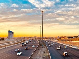 A road in Jeddah, one of the most beautiful cities in Saudi Arabia.