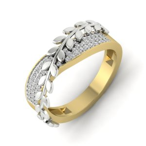18k Yellow Gold The Roman Leaf Ring