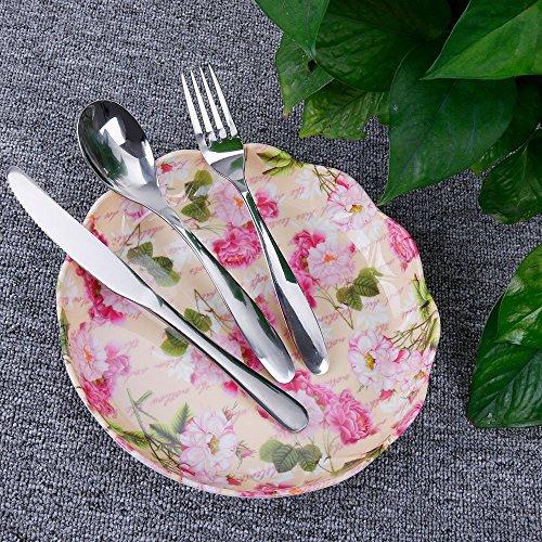 1 x coltelli 1 x forchetta Lictin Set Posate monoblocco Posate in Acciaio Inossidabile da Campeggio con Custodia in Neoprene 1 x Cucchiai Cena