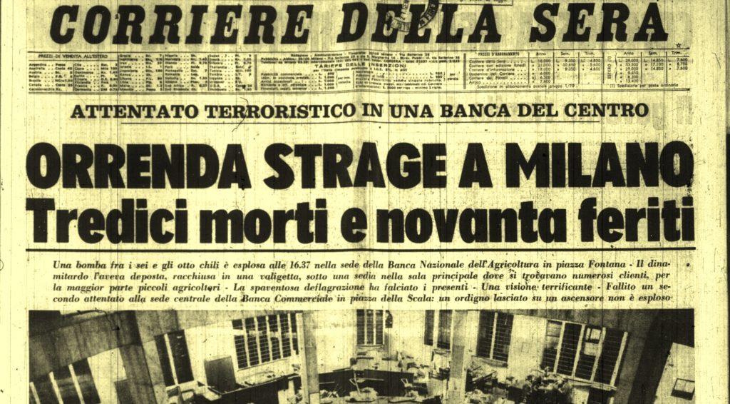 Risultati immagini per Piazza Fontana, 47 anni dopo