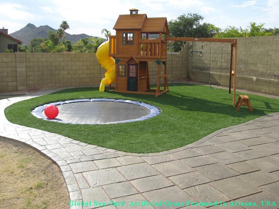 Grass Turf Gila Crossing, Arizona Playground, Backyard ... on Turf Backyard Ideas id=52537