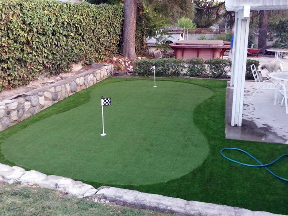 Grass Carpet Pasadena, Texas Home Putting Green, Backyard ... on Putting Green Ideas For Backyard id=17409