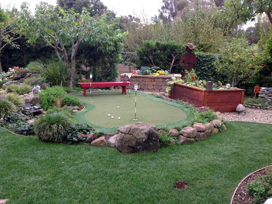 Grass Installation The Woodlands, Texas Outdoor Putting ... on Putting Green Ideas For Backyard id=34533