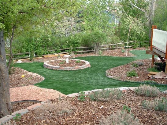 Installing Artificial Grass Greer, Arizona Putting Green ... on Artificial Grass Backyard Ideas  id=69641