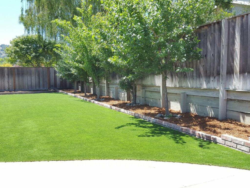 Installing Artificial Grass Nolic, Arizona Backyard Deck ... on Artificial Grass Backyard Ideas  id=63581