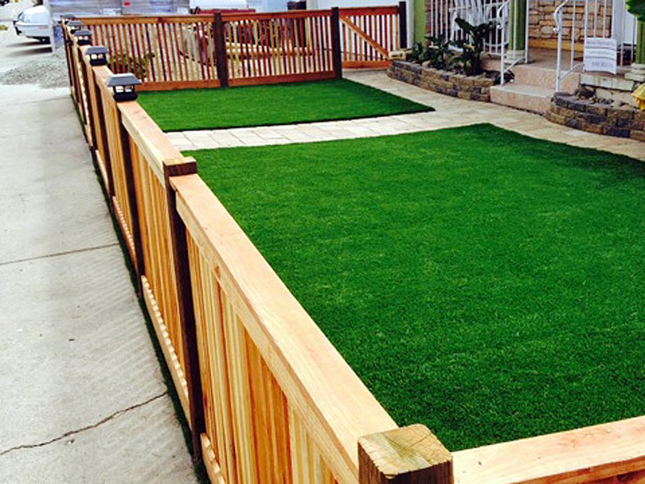 Turf Grass Ballard, California Backyard Deck Ideas, Front ... on Turf Patio Ideas id=84143