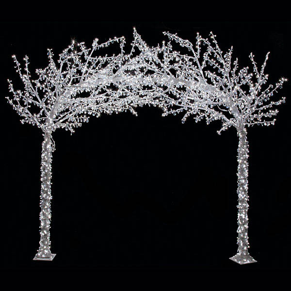 8 25 X 9 5 Foot Acrylic Arch Tree W Shapeable Branches White 5mm Leds L 140320