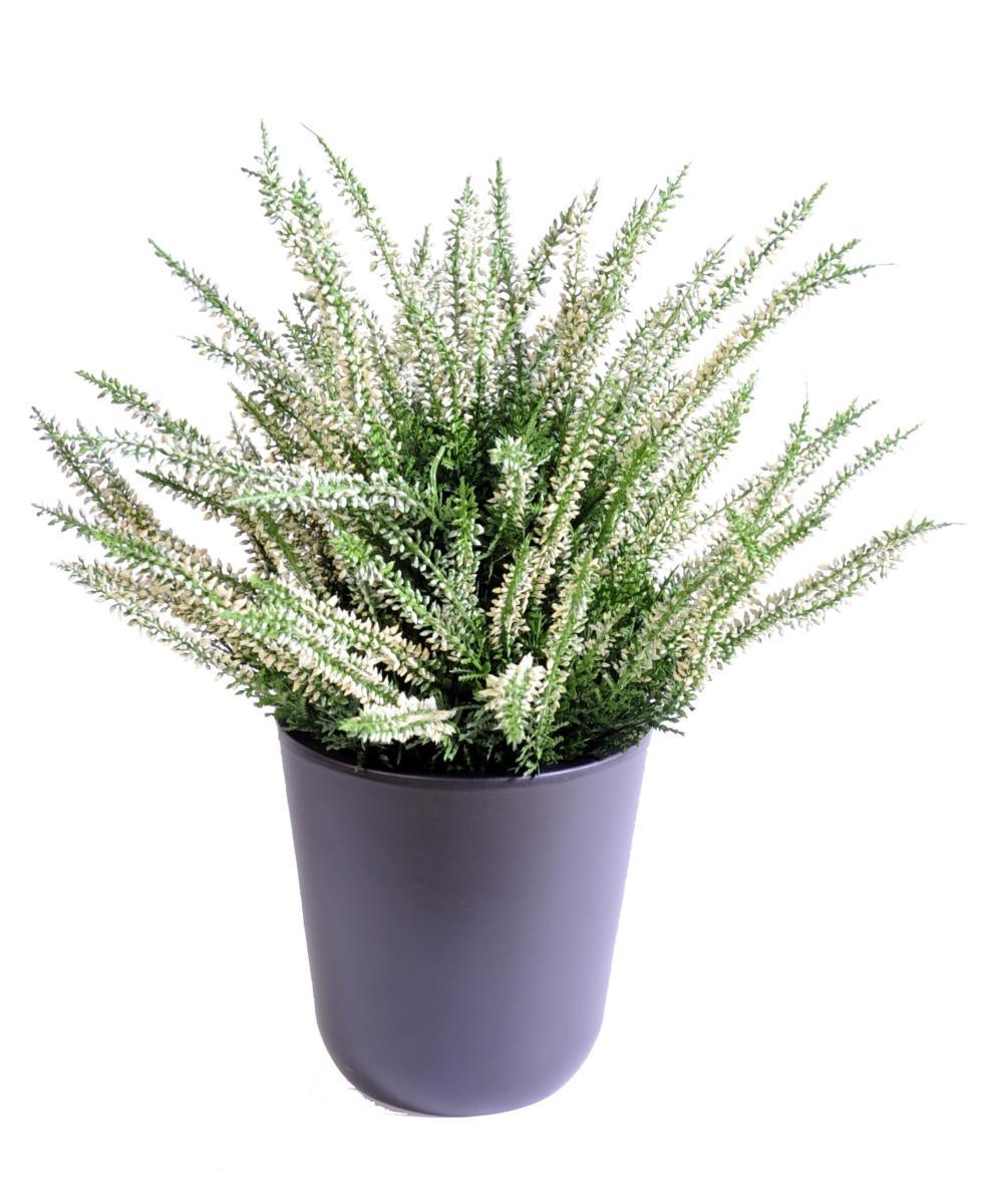 plante artificielle fleurie bruyere plastique en pot interieur exterieur h 35cm blanc