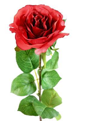 fleur artificielle coupee rose decoration d interieur h 66 cm rouge