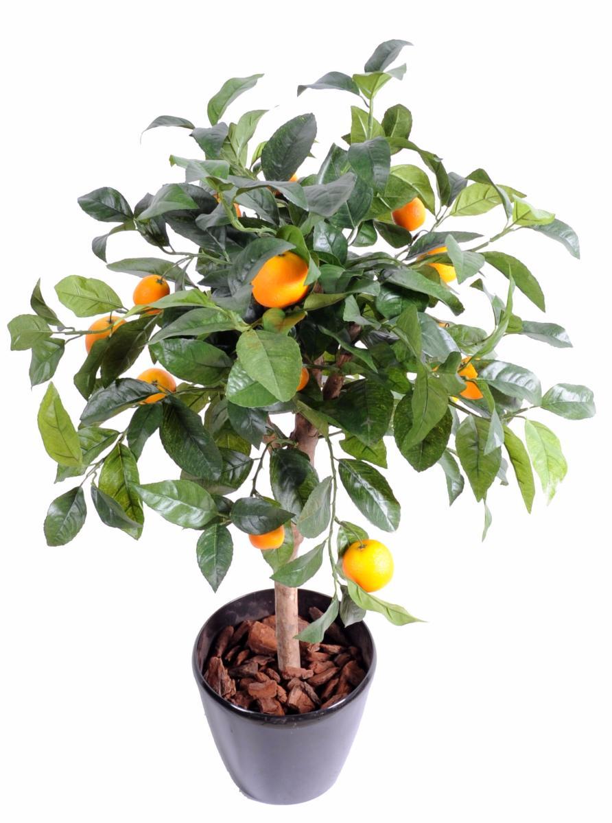 Arbre Artificiel Fruitier Oranger Tte En Pot Intrieur