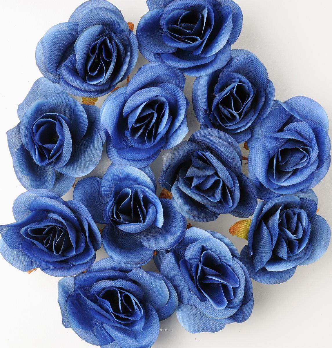 https www artificielles com tetes de rose artificielle x 12 bleu d 4 50 cm pour boule de rose c2x29700492