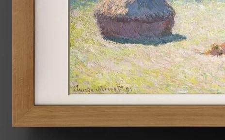 Artify - Zoom sur la signature de Claude Monet