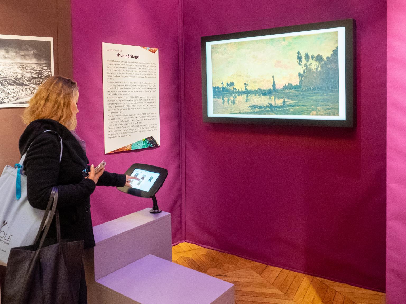 """Artify - Tableau d'art connecté à l'exposition """"Levallois au temps des impressionnistes"""""""