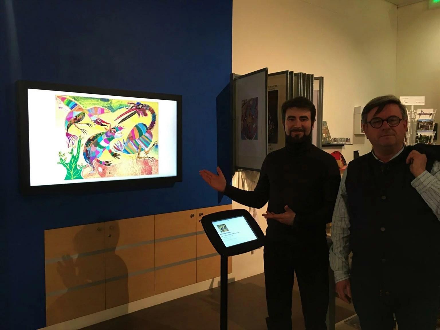 Artify - Inauguration du Musée d'Art Naïf et d'Arts Singuliers à Laval avec notre tableau d'art connecté