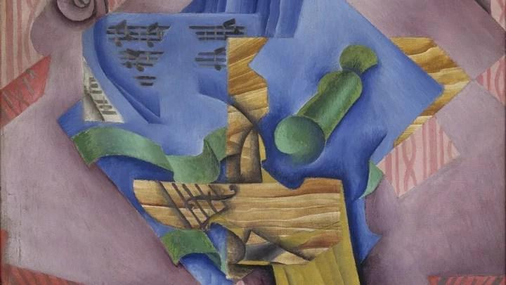 Artify - Oeuvre Violon et verre : Nature morte de Juan Gris, présentée lors de Arty Music