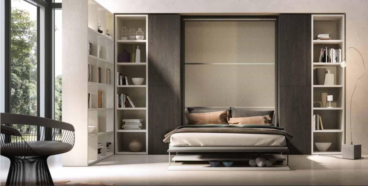 La camera da letto è lo spazio dedicato principalmente al nostro riposo e alla nostra intimità. Letto A Scomparsa Con Scrivania O Tavolo Modello Bomar In Offerta Outlet