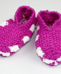 Pantoufles en Phentex pour enfant rose | Fait main Artigina