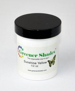 Teinture à laine Greener Shades (Sunshine Yellow) - 1/2 oz