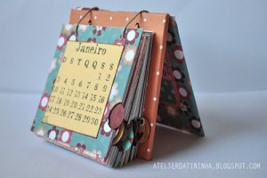 Reciclagem: Calendário de mesa