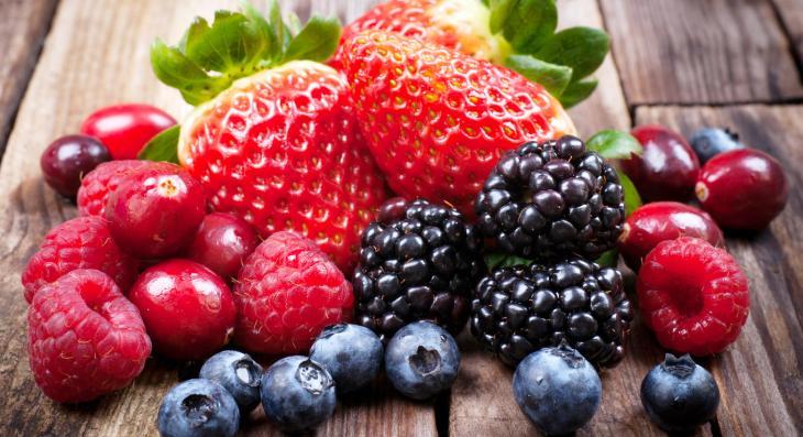 Frutas vermelhas, alimentos ricos em vitamina C