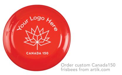 Canada Day Frisbee Custom Logo Print in Toronto