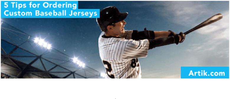 5 Tips for Ordering Custom Baseball Jerseys