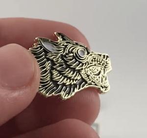 Custom printed metal lapel pins from Artik Toronto