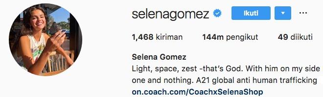 Selena Gomez selenagomez Instagram