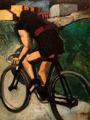 Mario Sironi - Il ciclista, collezione Peggy Guggenheim