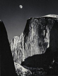 Ansel Adams, Moon and Half Dome, Yosemite Valley, 1960, © 2011 The Ansel Adams Publishing Rights Trust courtesy of the National Museum of Modern Art
