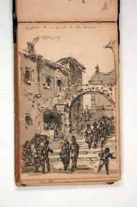 """Giovanni Biasin, """"Impressione da un quadro di Di Chirico"""", 1878 ca., Album G della collezione Eredi Luigi Stocco"""