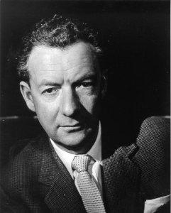 Un ritratto fotografico  del compositore Benjamin Britten