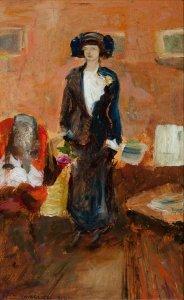 Mario Cavaglieri, Giulietta in visita 1912 Inv. Fondaz. 547 e Inv. Cassa 1475 ridimensionata