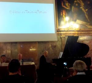 Venezia, Ateneo Veneto, Antonio Tarallo esegue al pianoforte i Preludi di Renato De Grandis per Exnovo musica (26 novembre 2018). Foto Anna Maria Griseri