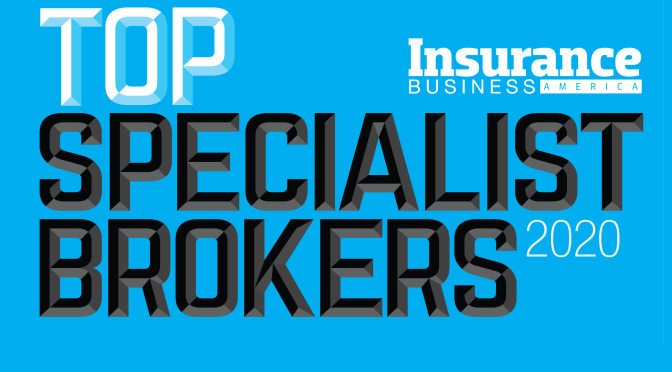 William G. Fleischer and Bernard Fleischer & Sons, Inc. named a top specialist broker for 2020.
