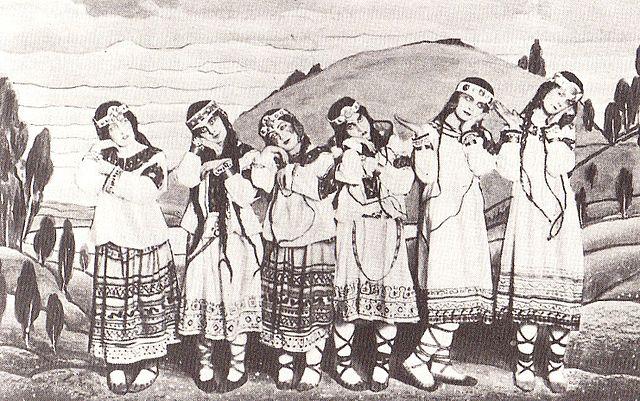 Original cast of Nijinsky's Rite of Spring