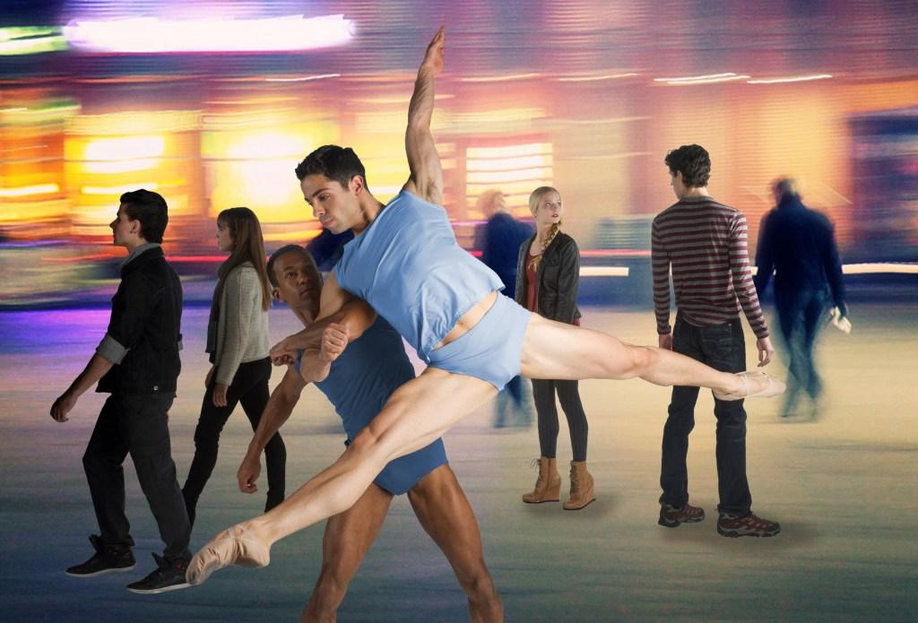 Dancers Ricardo Santos and Lucas Segovia in Crossing Ashland by Brock Clawson | Photo by Christopher Duggan