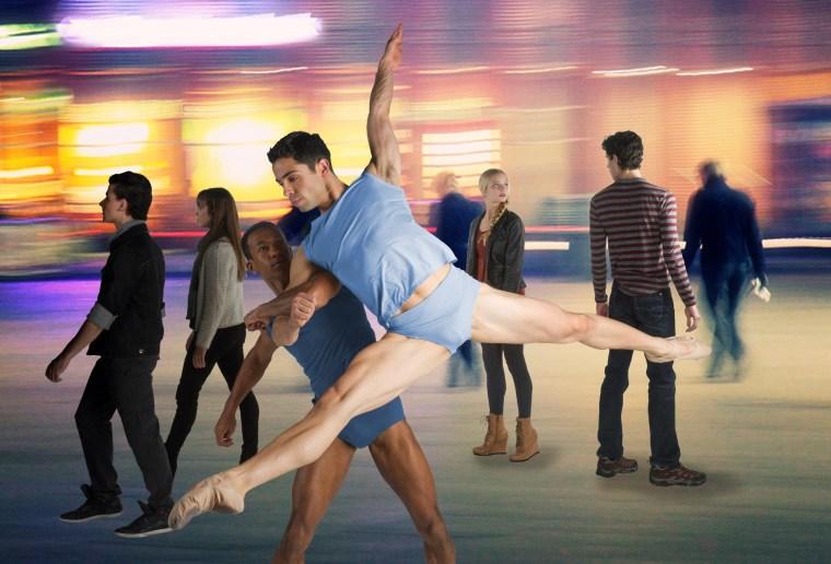 Dancers Ricardo Santos and Lucas Segovia in Crossing Ashland by Brock Clawson   Photo by Christopher Duggan