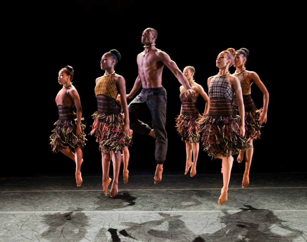 Alvin Ailey American Dance Theatre in Aszure Barton's LIFT. Photo by Paul Kolnik