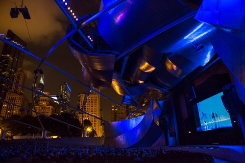 Opening night's Chicago Dancing Festival performace was simulcast at Pritzker Pavilion | photo by Cheryl Mann