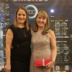 Thodos Dance Chicago founder and artistic director Melissa Thodos with executive director Gail Ford at the company's Chicago Inspired winter concert and gala at the Harris Theater on March 7.